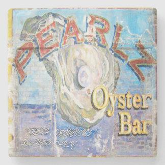 Pearlz Oyster Bar Charleston, SC. Marble Coaster