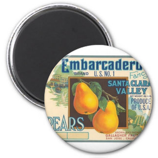 Pears 2 Inch Round Magnet