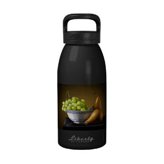Pears and Grapes Fruit Bowl Still Life Reusable Water Bottles