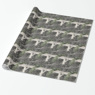 Pears And Hitching Post In Black And White Nature Wrapping Paper