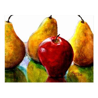Pears, Apple Fine Art Still Life Postcard