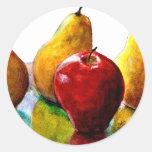 Pears, Apple Fine Art Still Life Sticker