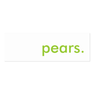 pears. business card template