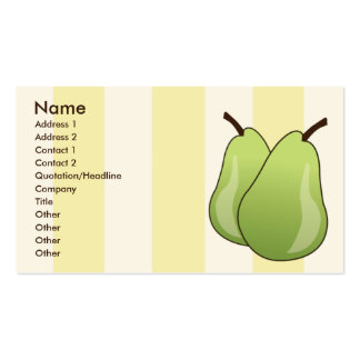 Pears - Business Double-Sided Standard Business Cards (Pack Of 100)