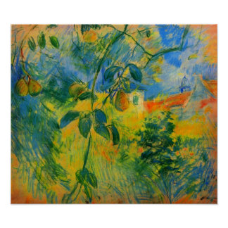 Pears by Berthe Morisot Poster