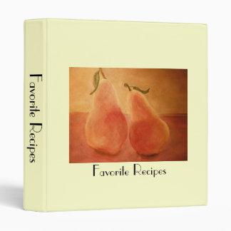 Pears Favorite Recipe Binder