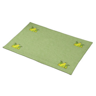 Pears (glass/tiled) cloth place mat