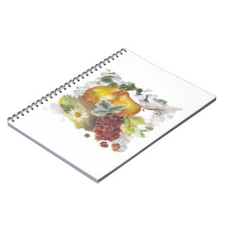 Pears & Grapes Spiral Notebooks