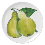 Pears Melamine Plate Party Plates