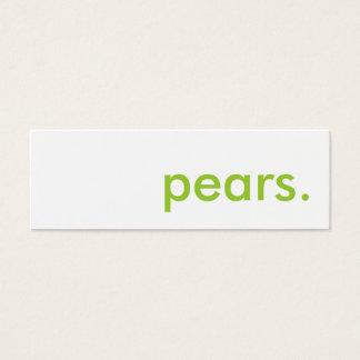 pears. mini business card