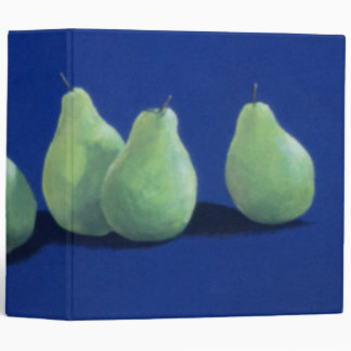 Pears on a Blue Cloth 3 Ring Binder
