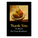 Pears on a Plate Blank Thank You Greeting Card
