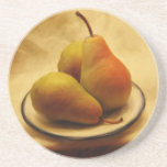 Pears on a Plate Drink Coasters