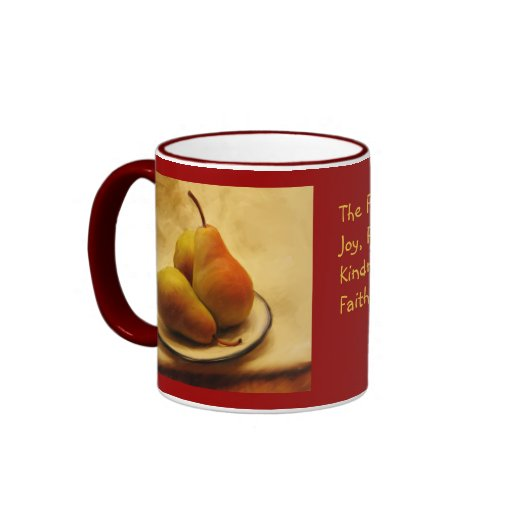 Pears on a Plate Galations 5: 22-23 Coffee Mug