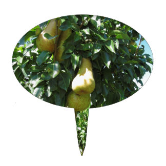 Pears on tree branches cake topper