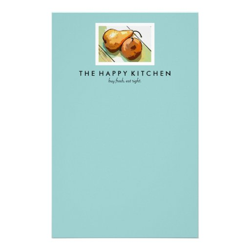 Pears Pair Customized Stationery