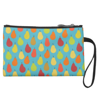 Pears Pattern Art (Exclusive) Suede Wristlet Wallet
