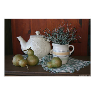 Pears & Pottery Still Life Posters