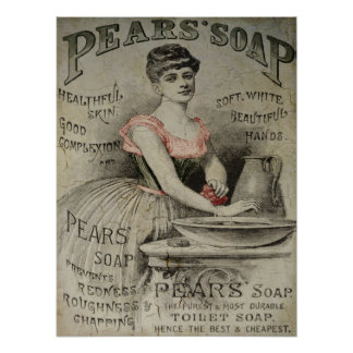 Pears Soap Advertisement Print