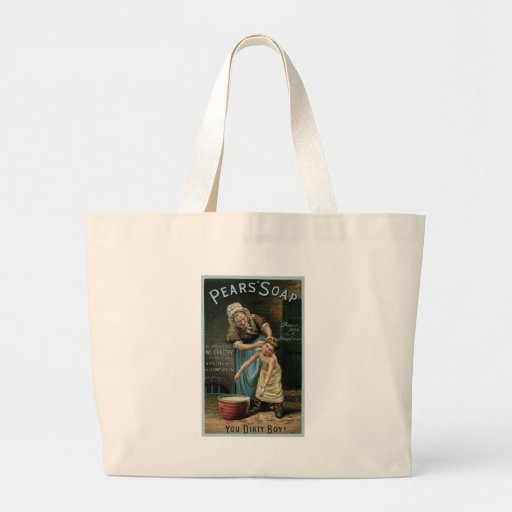 Pears Soap Boy Being Scrubbed Large Tote Bag
