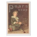 Pears Soap Bubbles Ad Card