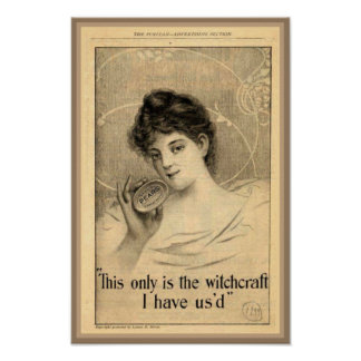 Pears Soap Witchcraft Ad Poster