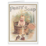 Pears Sopa Baby Ad Greeting Card
