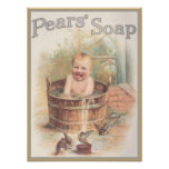 Pears Sopa Baby Ad Posters