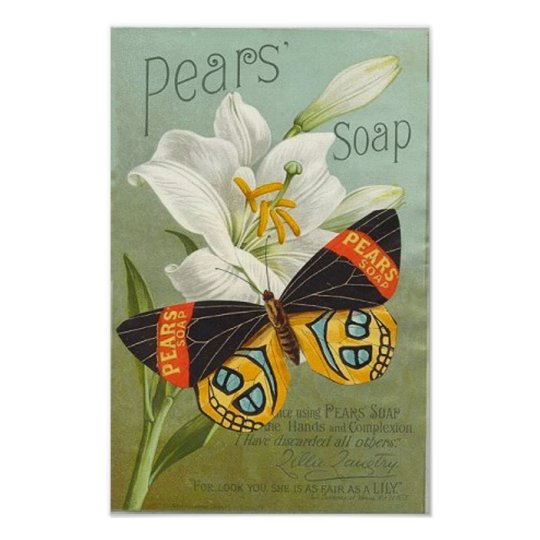 Pears Sopa Butterfly Poster
