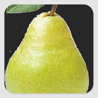 """Pears"" Square Sticker"