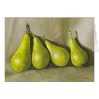 Pears. Still-life Card