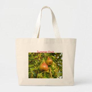 Pears, Summer Fruit Large Tote Bag