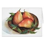 Pears Watercolor Still Life Notecard Card