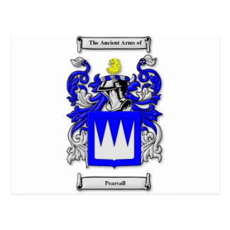 Pearsall Coat of Arms Postcard