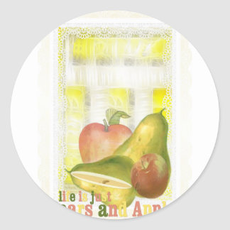 pearsandapples round stickers