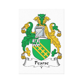 Pearse Family Crest Stretched Canvas Print