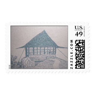 Pearsoll Peak Fire Lookout Postage Stamp
