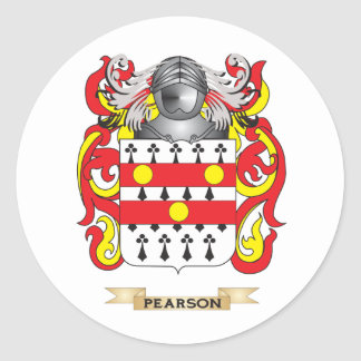 Pearson Coat of Arms (Family Crest) Classic Round Sticker