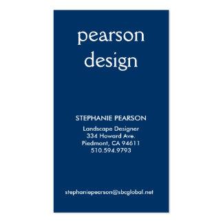 pearson design, Address 1, Address 2, Contact 1... Business Card