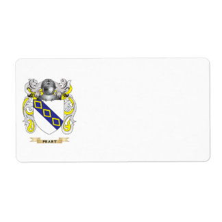 Peart Coat of Arms Family Crest Personalized Shipping Labels