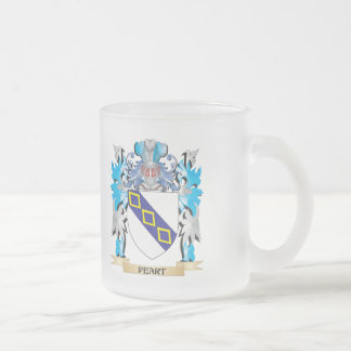 Peart Coat of Arms - Family Crest 10 Oz Frosted Glass Coffee Mug