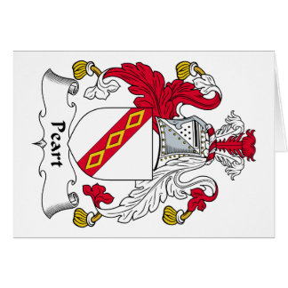 Peart Family Crest Greeting Cards