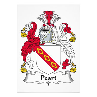 Peart Family Crest Personalized Invite
