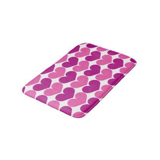 Peart heart print non slip bath mat for bathroom