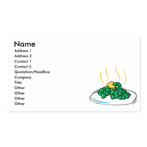 peas and butter Double-Sided standard business cards (Pack of 100)