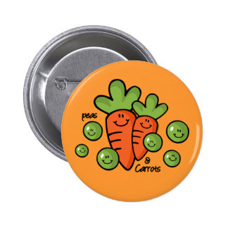 Peas And Carrots 2 Inch Round Button