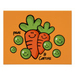 Peas And Carrots Poster