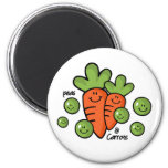 Peas And Carrots Refrigerator Magnet