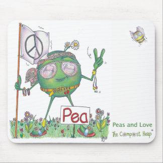 Peas and Love Mousepad