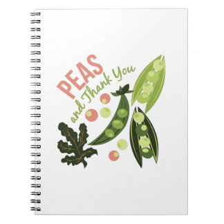 Peas And Thank You Notebooks